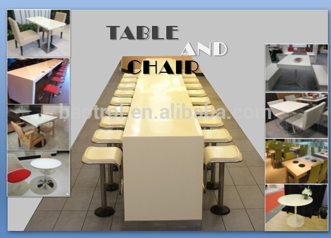 resin solid surface standard height,acrylic japanese dining table