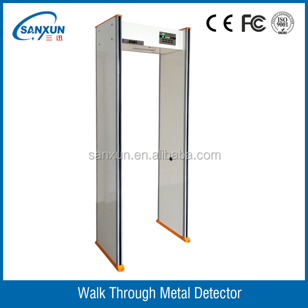 18 detect zones walk through metal detector with LED side light alarm