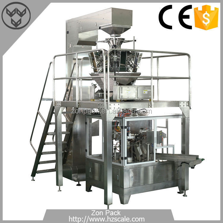 Automatic High Efficient 10 Heads Potato Chips Bag Weighing Packing Machine