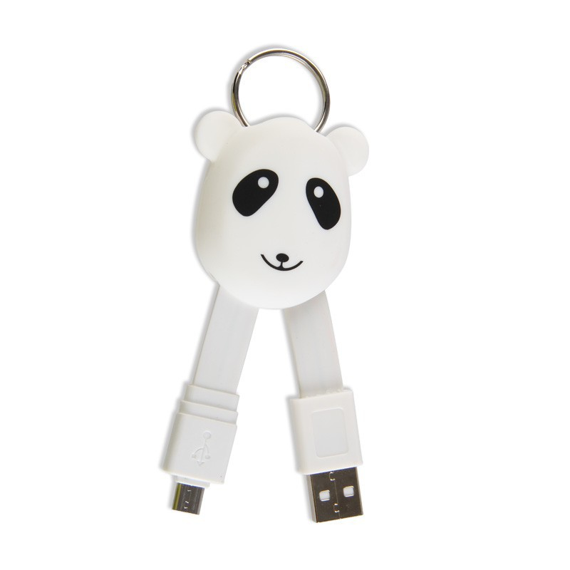20cm Cute Micro usb flat cable data and charging cable