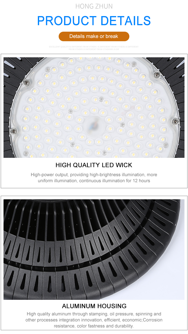 High lumen IP65 factory warehouse industrial 100w 150w 200w ufo led high bay light