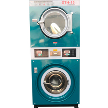 Stacked washer and dry industrial washer and dryer machine 12kg