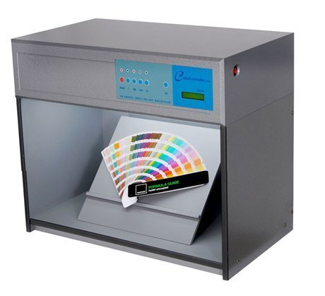 Huanyu Color Assessment Cabinet Color Controller Light Box for Textile, Printing Color Matching Cabinet 4 light sources: D65 TL84 UV F
