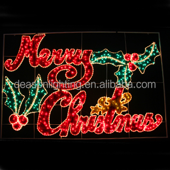 merry christmas lighted signs outdoor