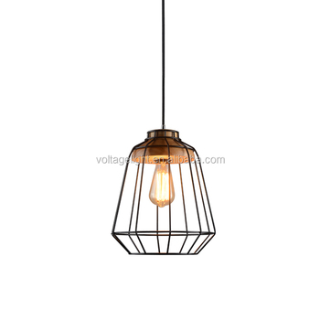 Decorative Metal Pendant Light Cord Wire Pendant Light For Coffee Shop
