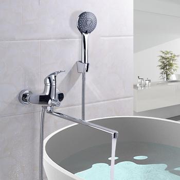 Turbo 40cm Lange Nase Badewanne Wasserhahn Chrom Wandmontage Auslauf AV01