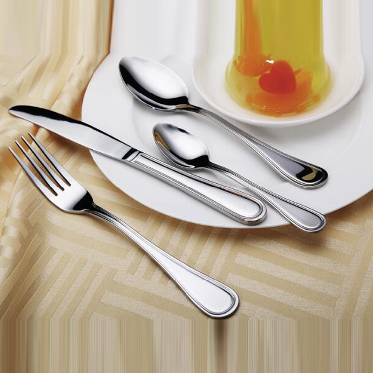 Golden Ware OEM \ ODM Logo&color Customized High Mirror Polish rose gold cutlery set