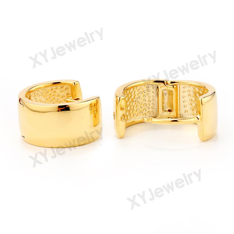 14 Karat Gold Hoop Earrings Fake Gold Hoop Earrings Broad Earrings