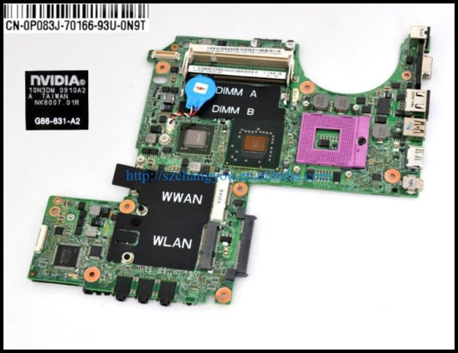P/N P083J XPS M1330 motherboard (System board)with NV G86-631-A2 VGA board use for DELL DELL XPS M1330 laptop