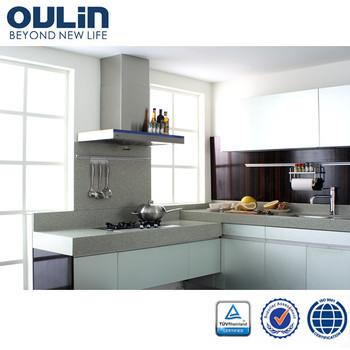 2014 modern cheap modular wooden kitchen cabinet cupboard door