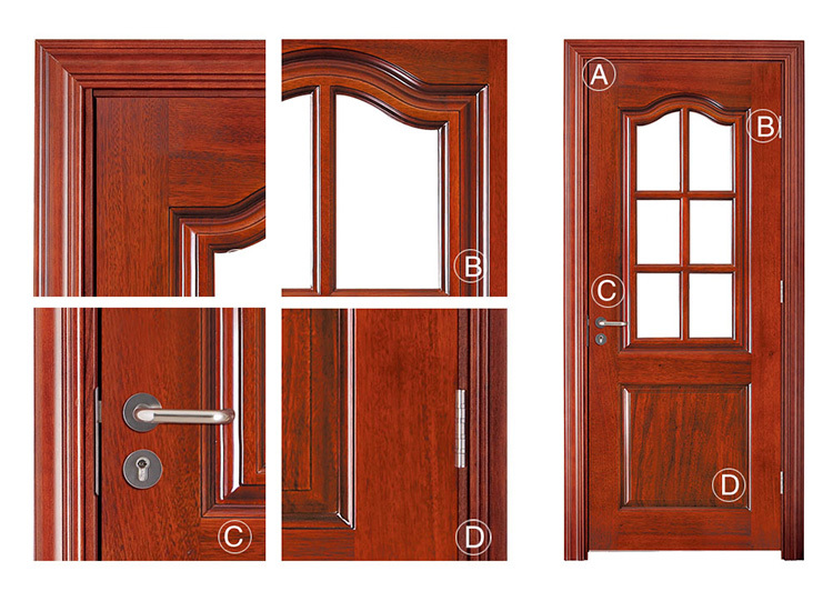Sapelli chapa puertas interiores de madera maciza con for Puertas interiores de madera con vidrio
