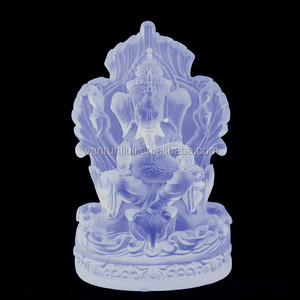 artical crystal ganesha figurine for indian wedding return gifts