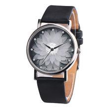 Новые модные женские часы с цветком повседневные кожаные Аналоговые кварцевые наручные часы кварцевые часы подарки Relogio Feminino 2020 Q60(Китай)