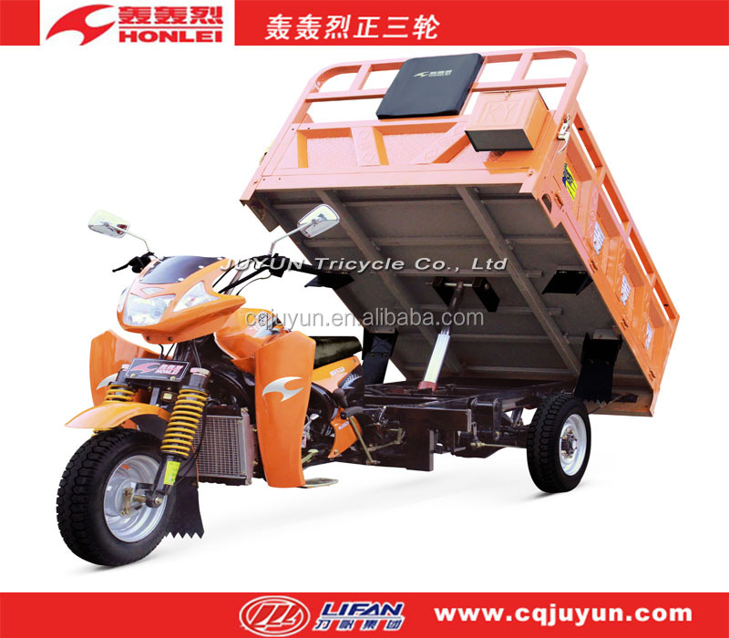200cc air-cooled engine tricycle made in China/garbage auto rickshaw HL200ZH-A15
