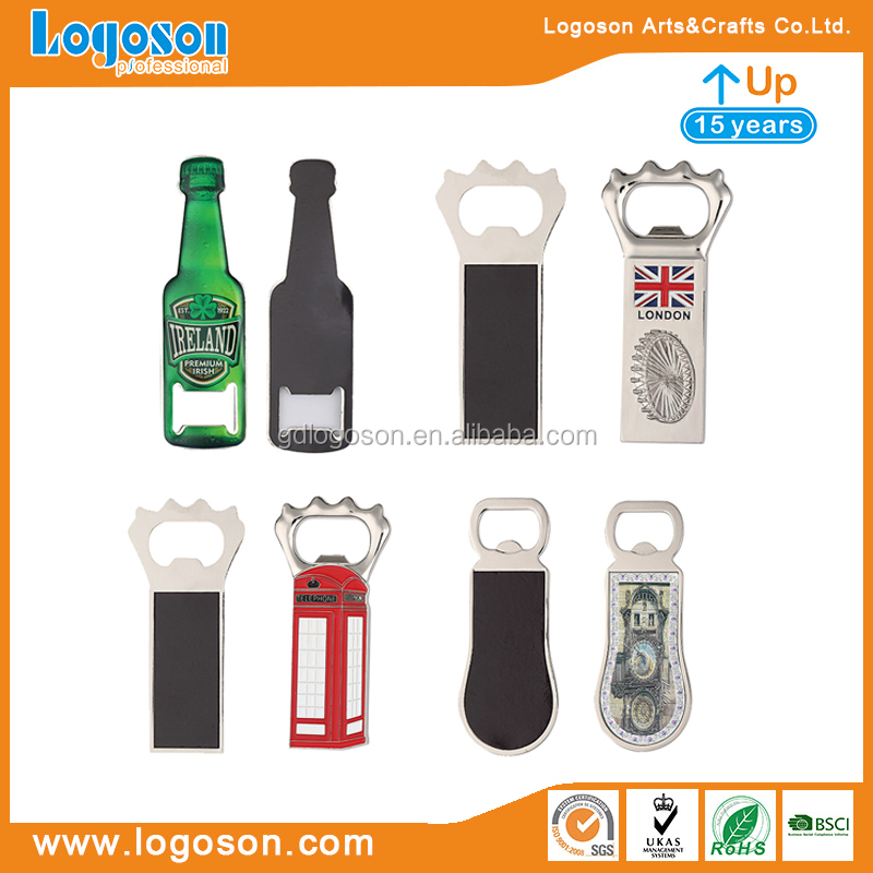 Cheap Souvenir Custom Made Cast Iron Beer Cap Catcher Wall Mounted Blank Bottle Opener