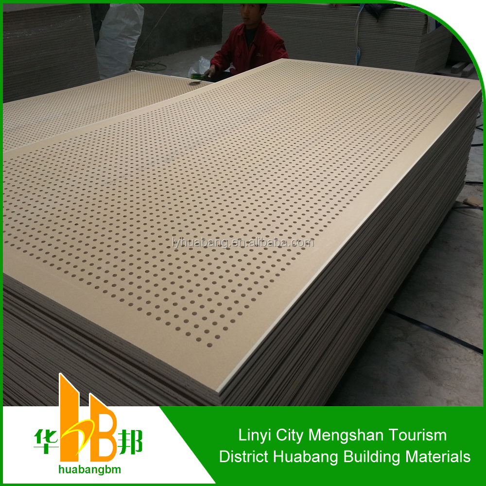 Sound Absorbing Gypsum Board : Sound insulation water fire proof perforated gypsum