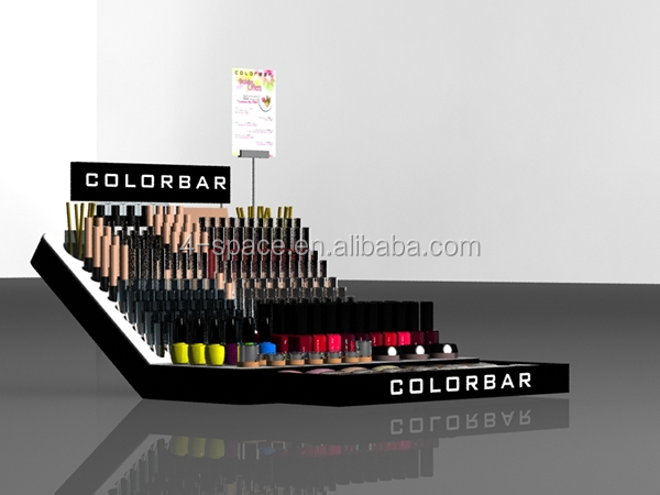 Expanded Form Design Cosmetics Stands Acrylic Black Lipstick Display