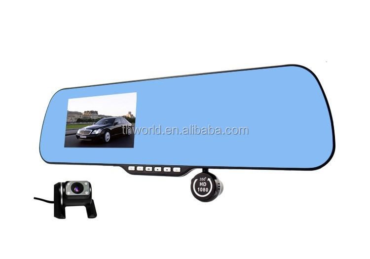 Hd Video Driving Recorder With Rearview Mirror X6 Car ...