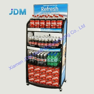 Custom classical Design High Quality Promotion Recyclable powder coated Metal steel drink display rack