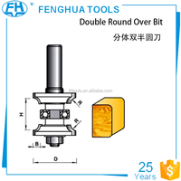 Plastic box packing Router Bit YG8 carbide Tip Double Round Over Bit