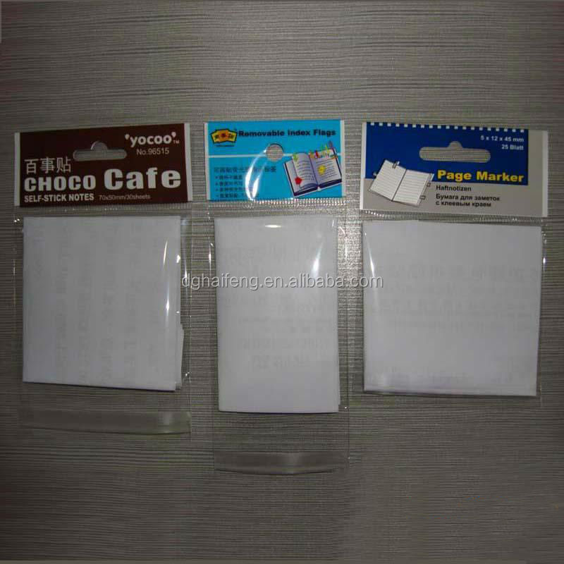 Small poly header plastic bag OPP material custome order