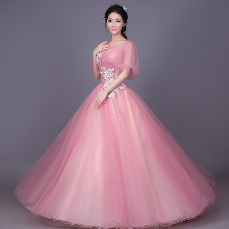 Cestbella luz larga color mejor calidad Venta caliente puffy vestido ...