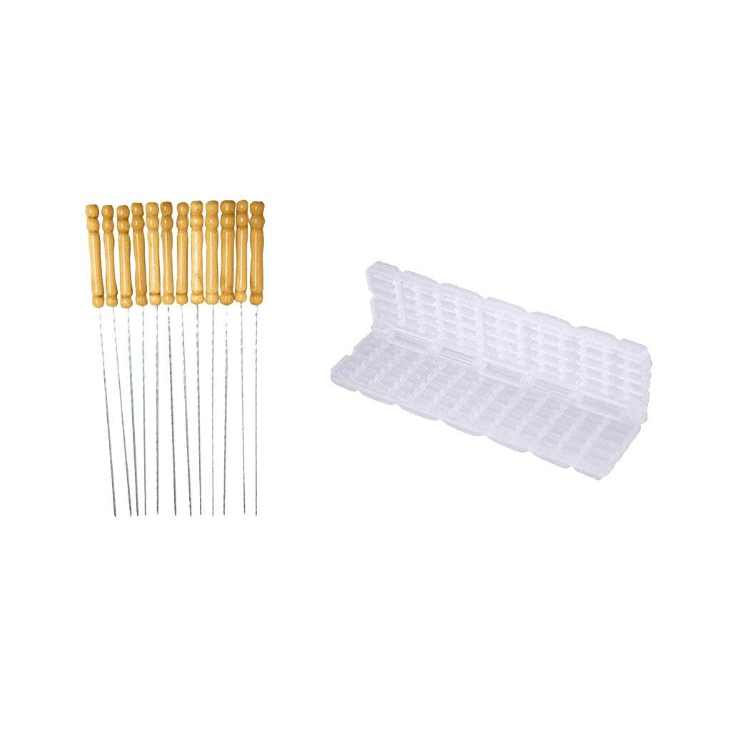 Flameer 1pc Barbecue Skewer Machine BBQ Meat Kebab Maker and 12pcs Barbecue Roasting Sticks
