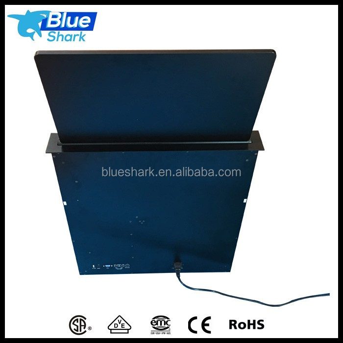 19 inch desktop motorized computer LCD monitor lift mechanism for conference system