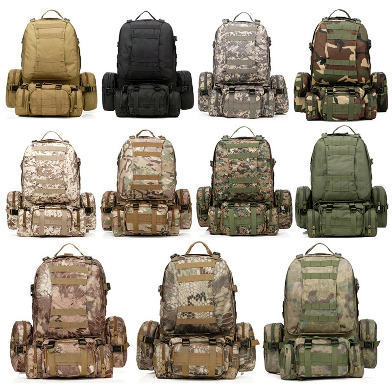 New Large Molle Assault Tactical Outdoor Military Rucksacks Backpack Camping Bag