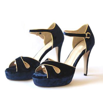 fbbee1816 Summer High Grade Velvet Buckle Strap High Platform Heels Women Sandals