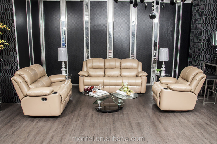 High Quality Noble House Furniture For Heavy People Soft Line Leather Sofas