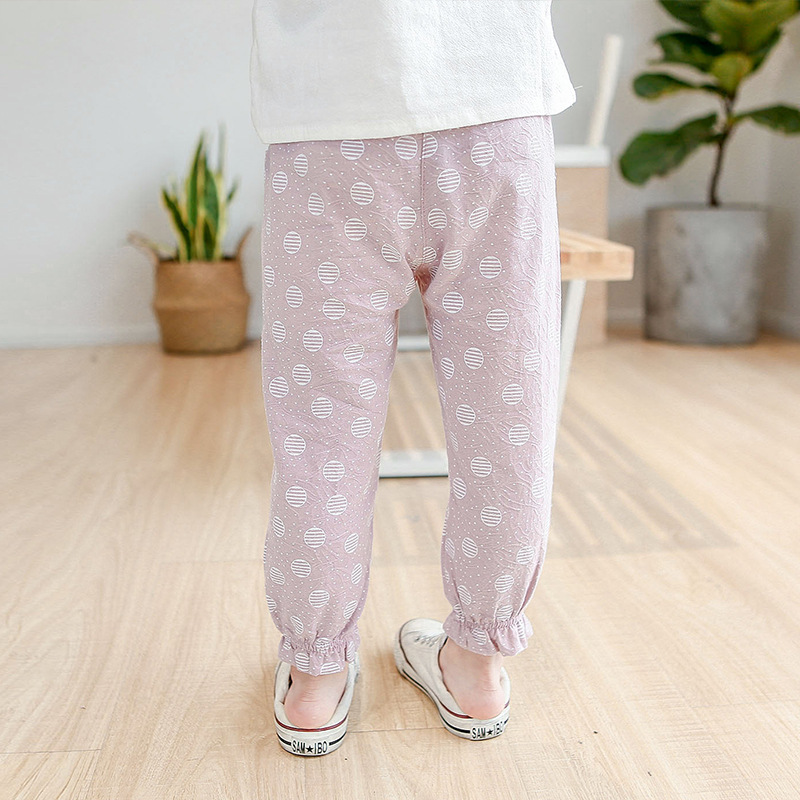 2019 spring 4 colors into the girls wooden ear pockets wave point casual children pants