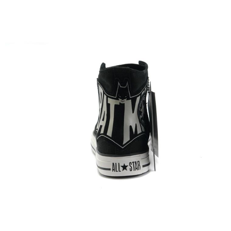 Оригинальный новый конверс парусиновые туфли высокие - топ модель бэтмен обувь свободного покроя на плоской подошве качество скейтбординг черный 35 - 43