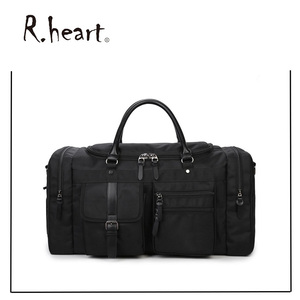 Large Durable Leather Duffel Bag Foldable Sports Duffel Bag Men