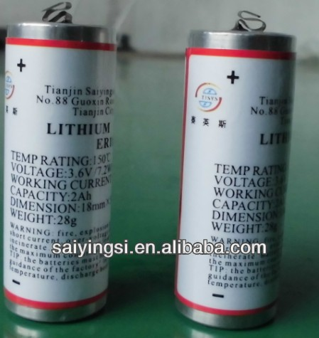 3.6v aaa high temperature lithium battery 3.6v aaa li-socl2 battery