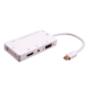 4 in 1 Mini DP Thunderbolt to HDMI VGA DVI Audio Adapter with Micro USB Port