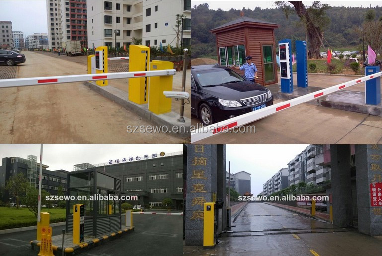 6m Straight Arm Parking Barrier For Management System With Led ...