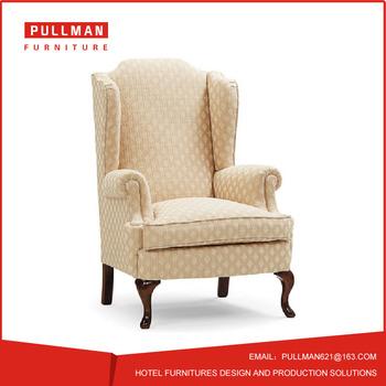 hotel sofa hotel lobby room lounge chair single seat fabric sofa 4