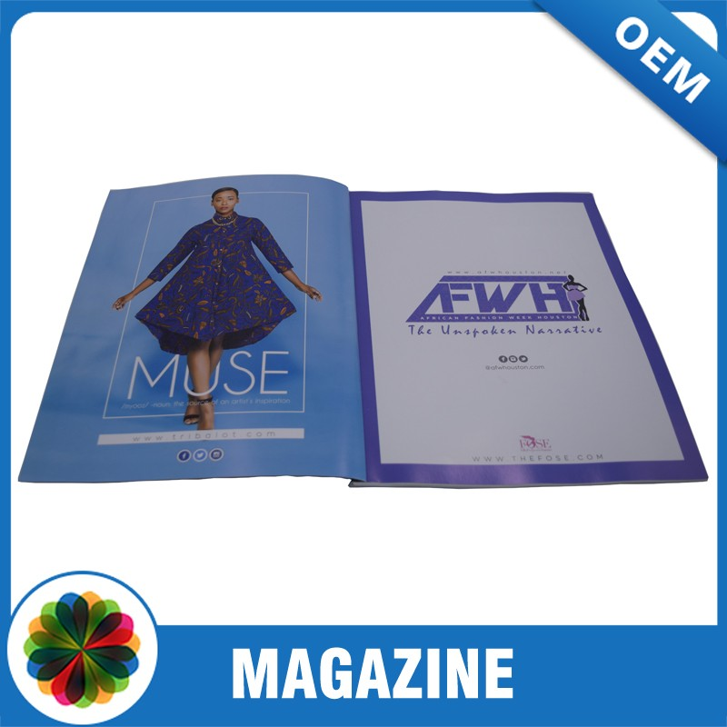 High quality Low cost custom A4 glossy cheap magazine printing