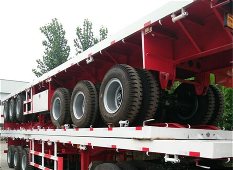 Hot sale manufacturer 3 axle 40ft flatbed container semi trailer