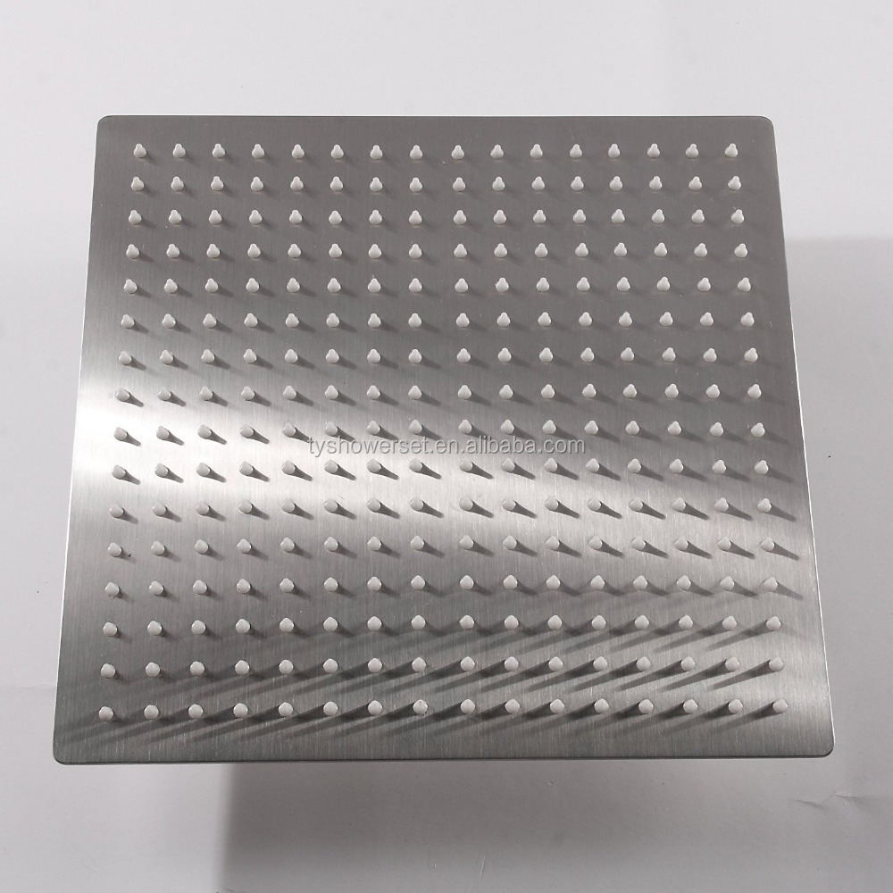30*30CM.12 Inch Rain Brushed Shower Head,Stainless Steel Shower1/16'' Ultra Thin Showerheads.