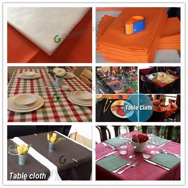 45gsm NonWoven Made Non Slip Tablecloth Roll Disposable Non Woven Table  Covers