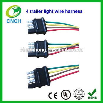4 pin way trailer light wiring harness extension 4 pin 18 awg flat rh alibaba com 4 pin relay wiring harness 4 pin wiring harness diagram