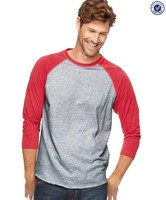 Vintage Fine Jersey Three-Quarter Sleeve Baseball Style T Shirt For Men