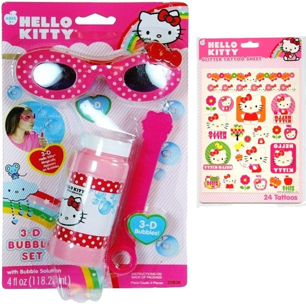 Hello Kitty 3D Bubble Set - Bubbles & 3D Hello Kitty Glasses
