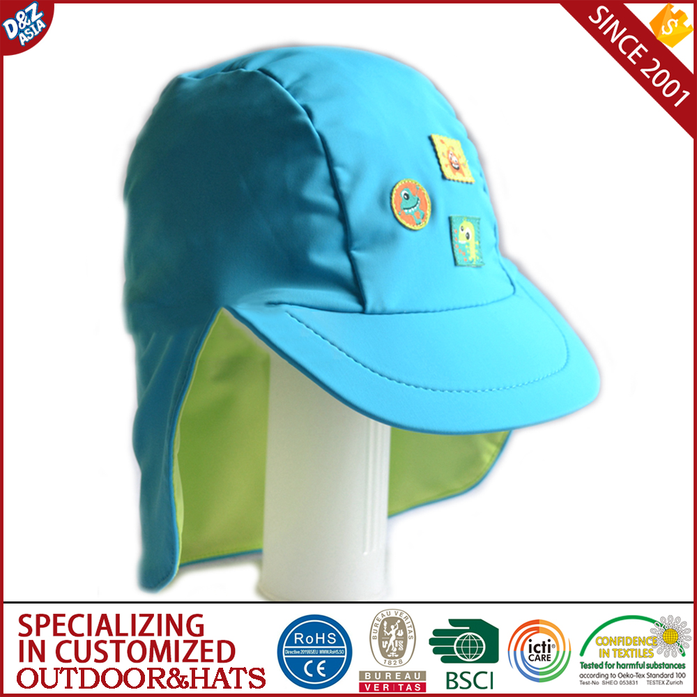 Kids Sun Hat Uv Protective Beach Safari Swim Flap Hat Wide Brim