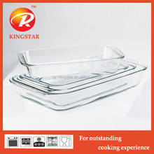 High quality heat resistance glass baking pan/pyrex baking pan/ovenable pan
