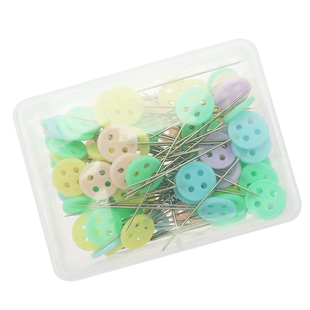 100 Per Pack Rimobul Quilting Quilter/'s 1.9/'/' Head Pins Boxed Flat Button