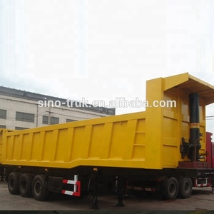 50ton Heavy duty rear dump semi trailer truck for sale