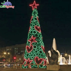 Christmas Tree with LED light Christmas Tree set with Decorative berry